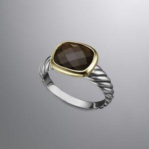 David Yurman Noblesse Smokey Quartz Ring